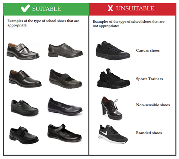 GLC Approved Shoe Styles