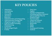 Key Policies for Primary Page